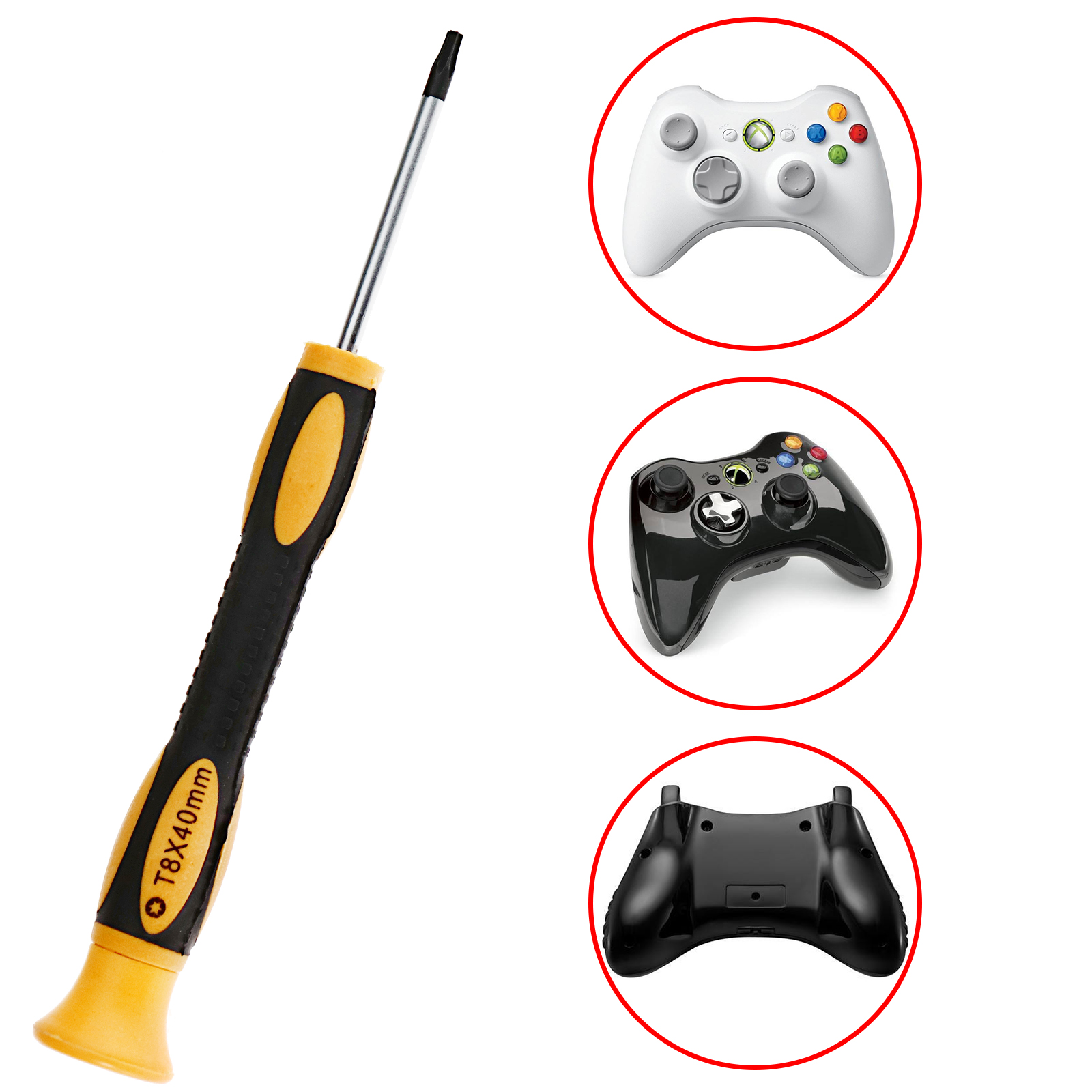 Details about T8 PLAYSTATION 4 XBOX ONE CONTROLLER SECURITY TORX PS3 XBOX  360 SCREWDRIVER