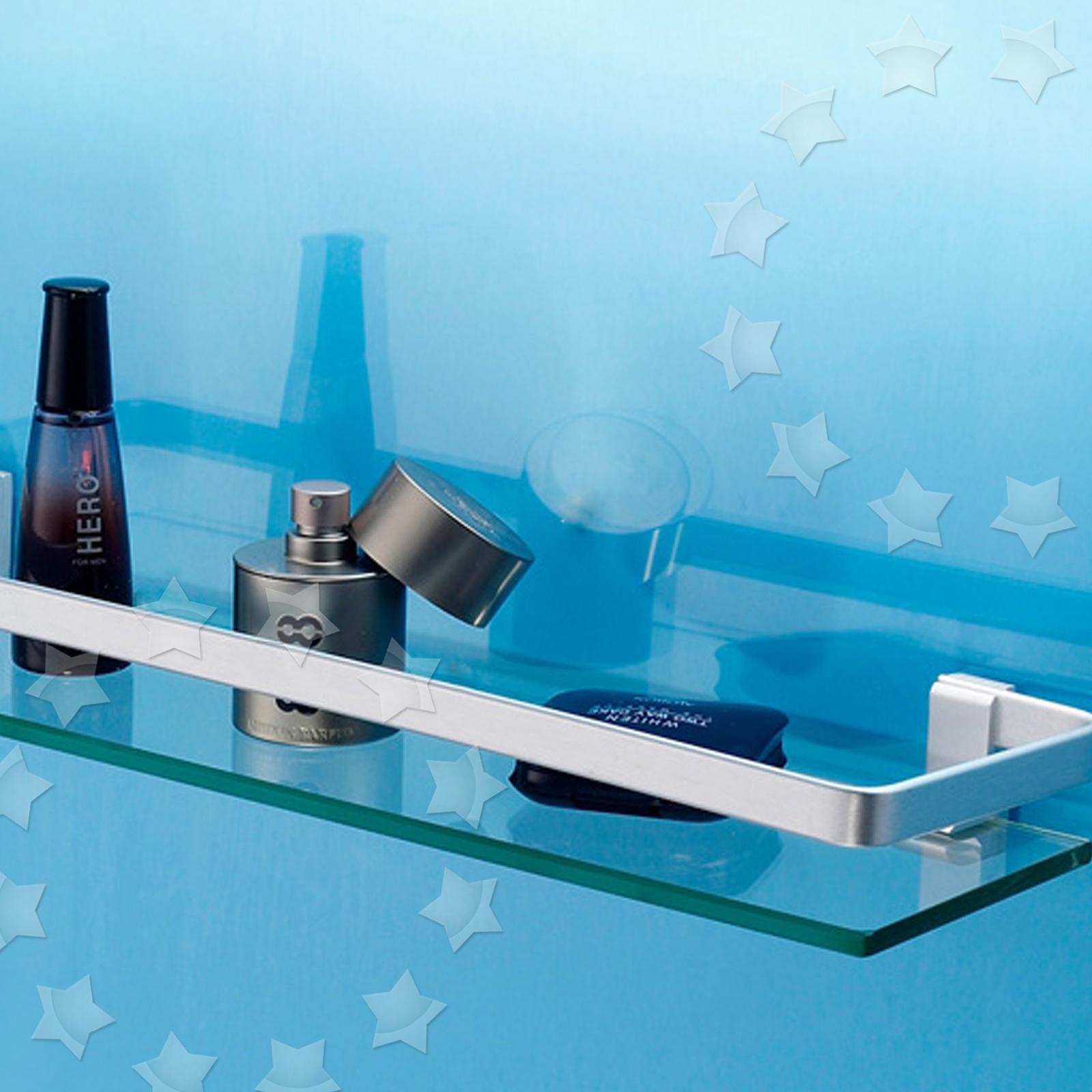 Chrome Shower Shelf Storage Caddy Wall Organizer Bathroom Rack ...
