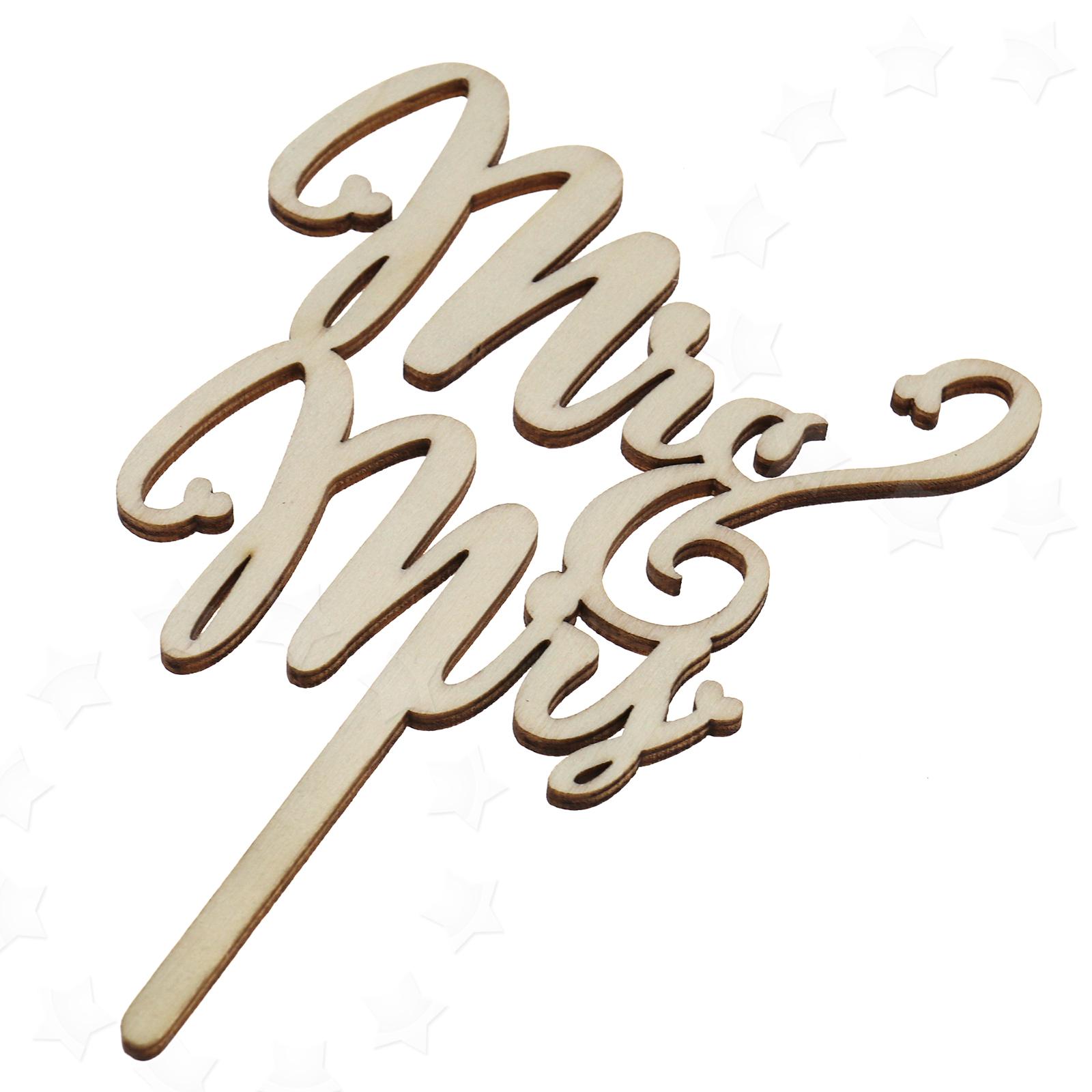 Mr & Mrs Letter Monogram Wedding Cake Toppers Bling Cake Topper Top ...