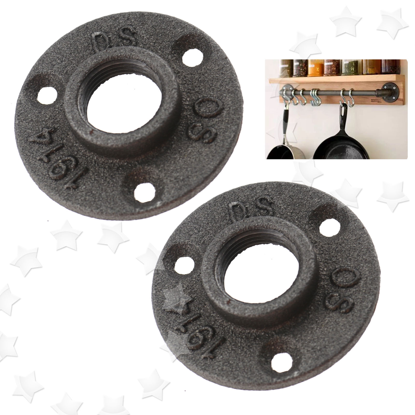 Cast iron pipe fittings floor flange plate wall mount