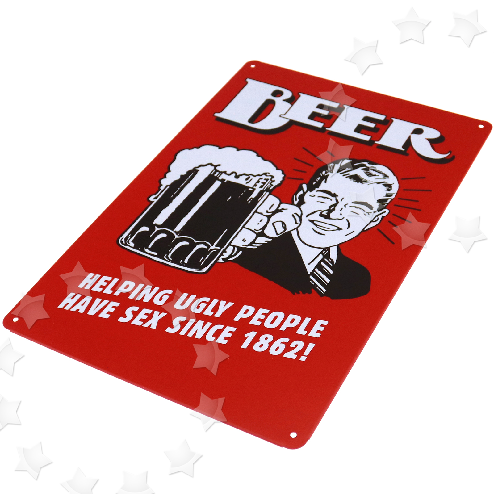 metal tin sign poster plaque bar pub club wall decor beer helping ugly people 608415780403 ebay. Black Bedroom Furniture Sets. Home Design Ideas