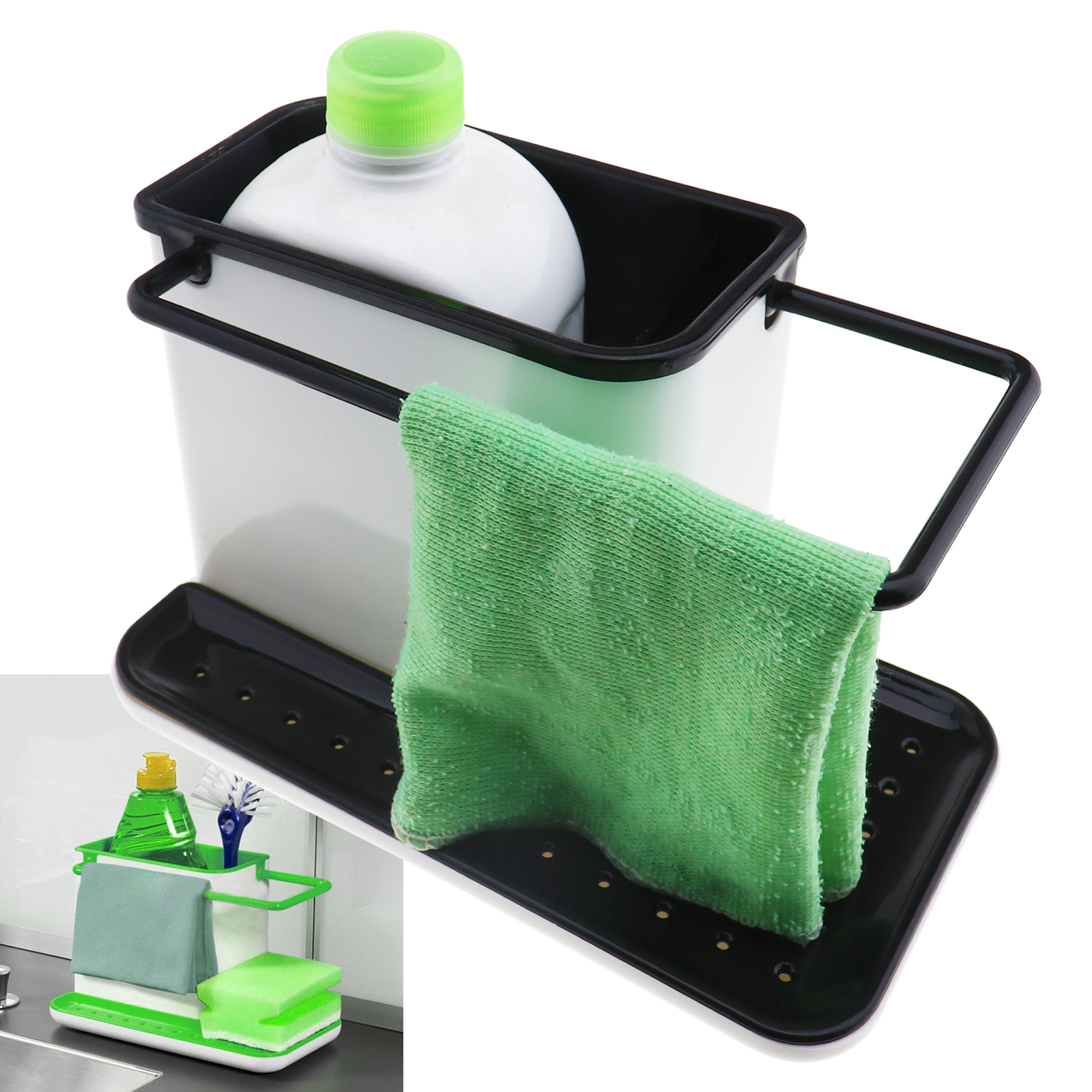 Bathroom Sink Caddy Sponge Holder Storage Organizer Soap