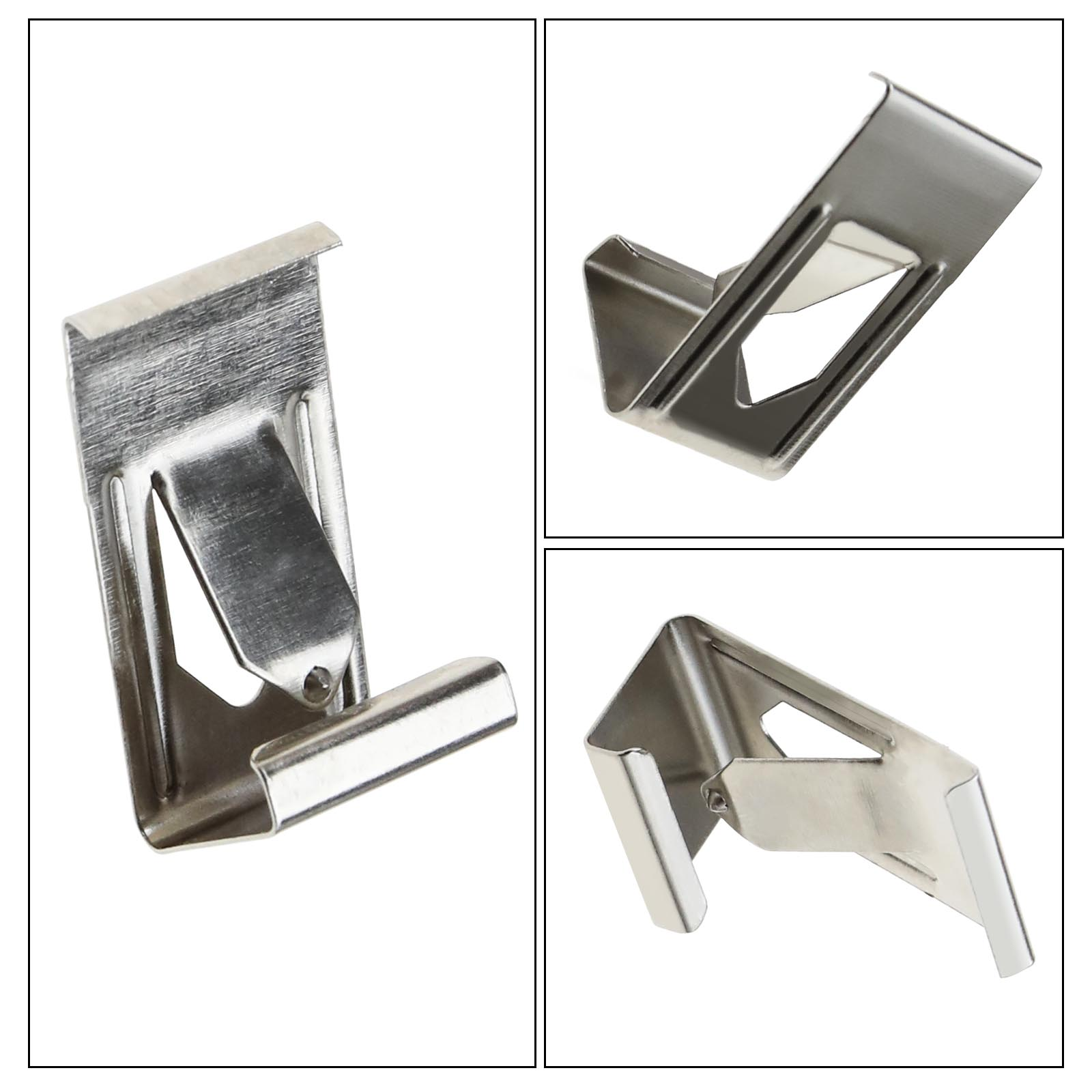 50x/100x Silver Metal Spring Turn Clip Hanger For Frame 3D Printer Heated Bed