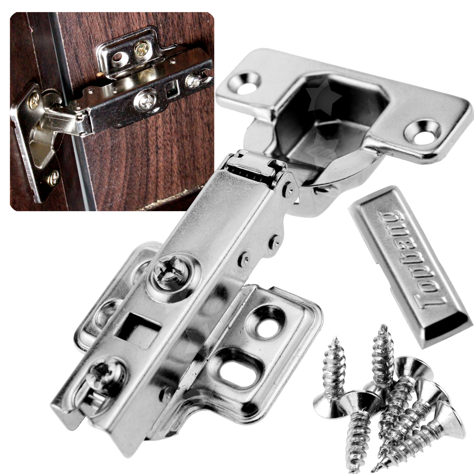 Soft Hydraulic Buffering Kitchen Cabinet Furniture Hinge ...