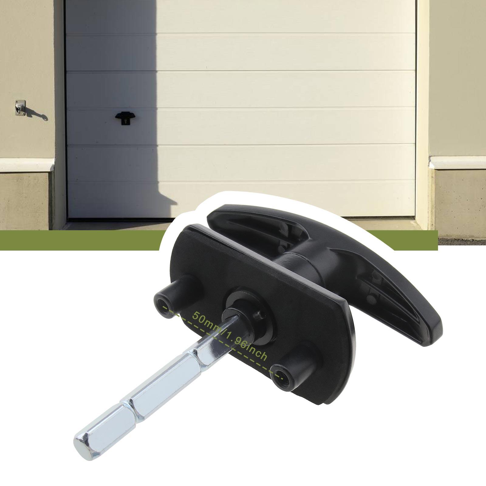 Black T Handle Garage Door Lock 1835mm Fixing Spigots 75mm Shaft