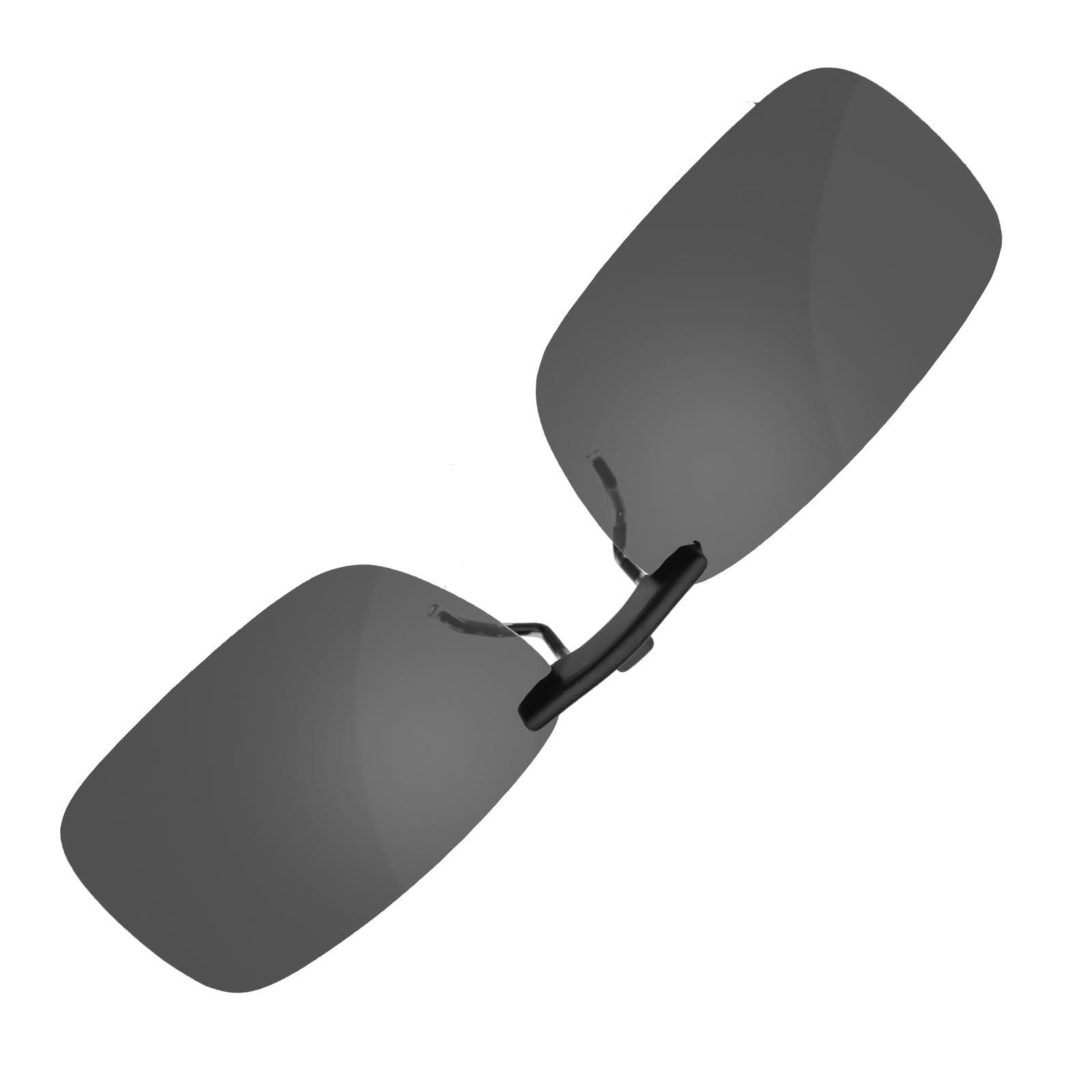 uv400 sonnenbrillenvorh nger clip sonnenbrille dunkel grau. Black Bedroom Furniture Sets. Home Design Ideas