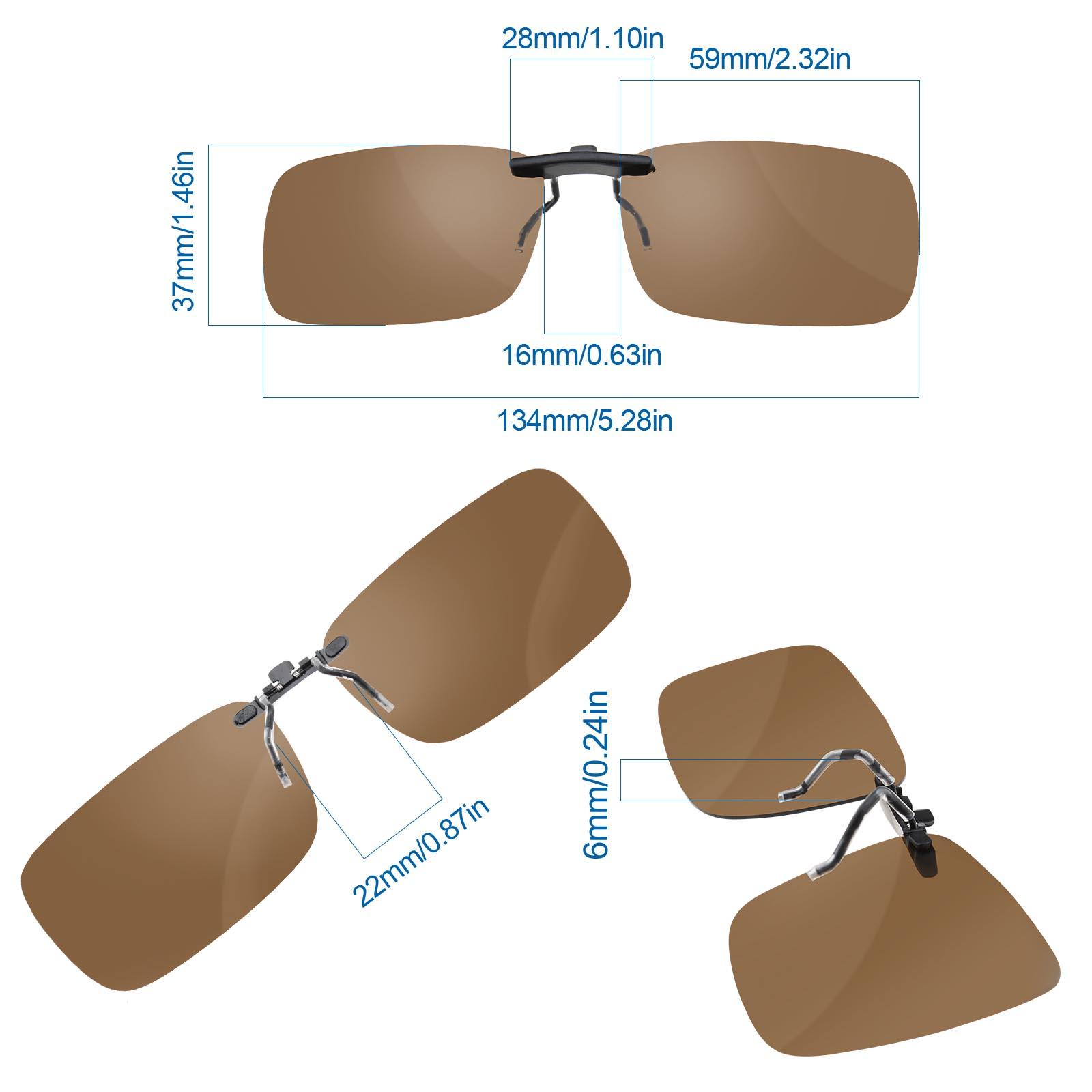 UV Schutz Sonnenbrillenvorhänger Clip Sonnenbrille Klappbar dunkel ...