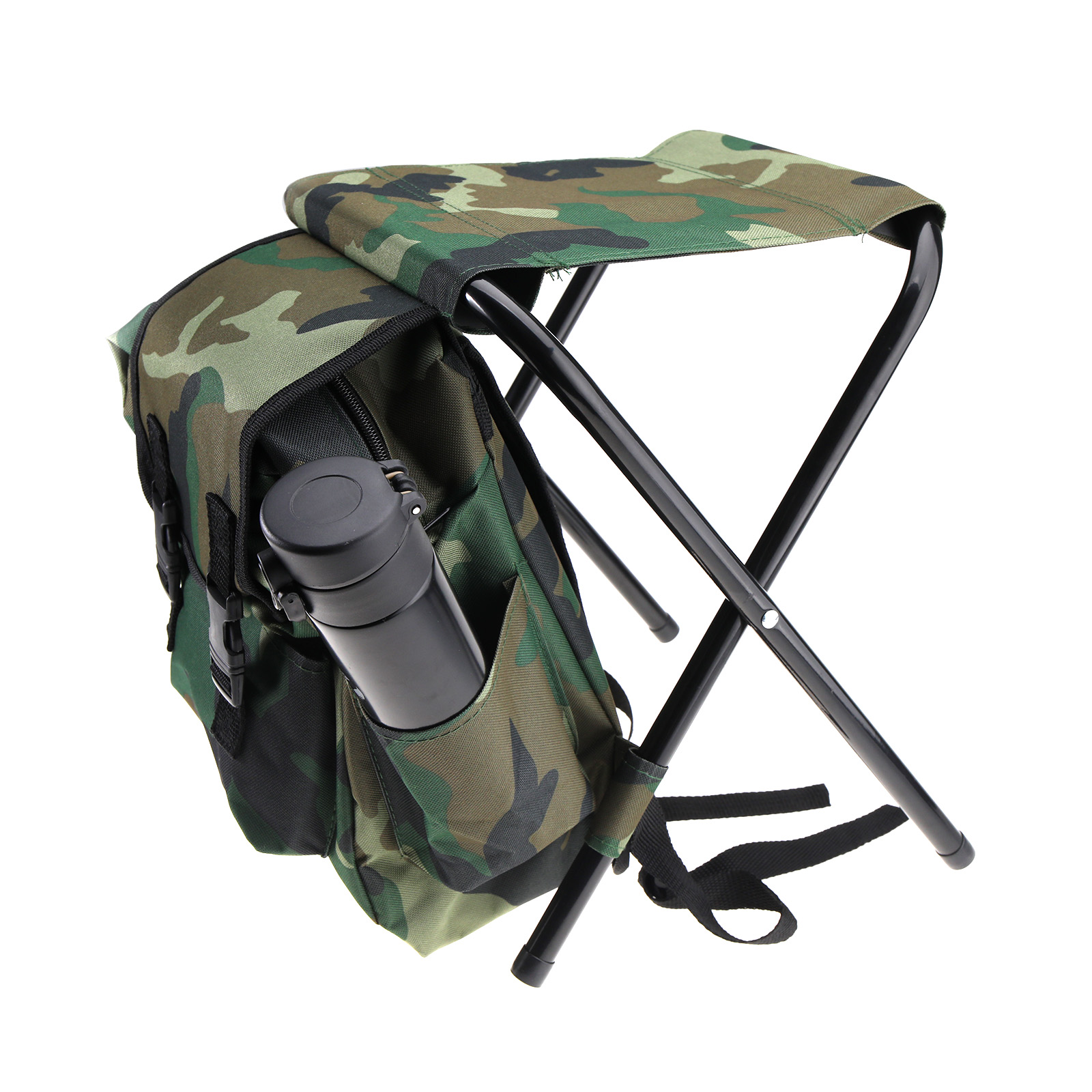 Foldable outdoor fishing chair stool backpack travel for Backpacking fishing kit