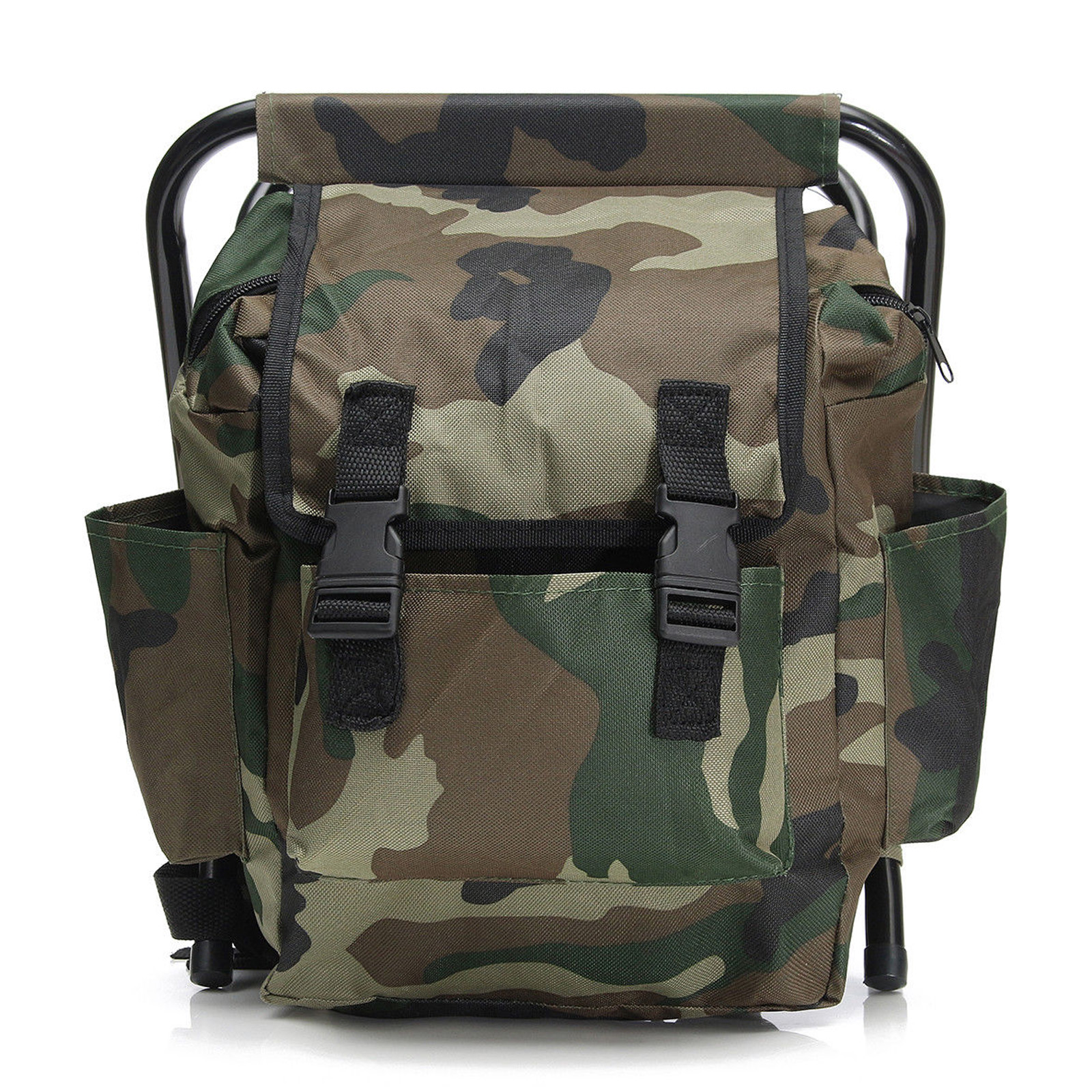 Foldable outdoor fishing chair stool backpack travel for Fishing backpack chair