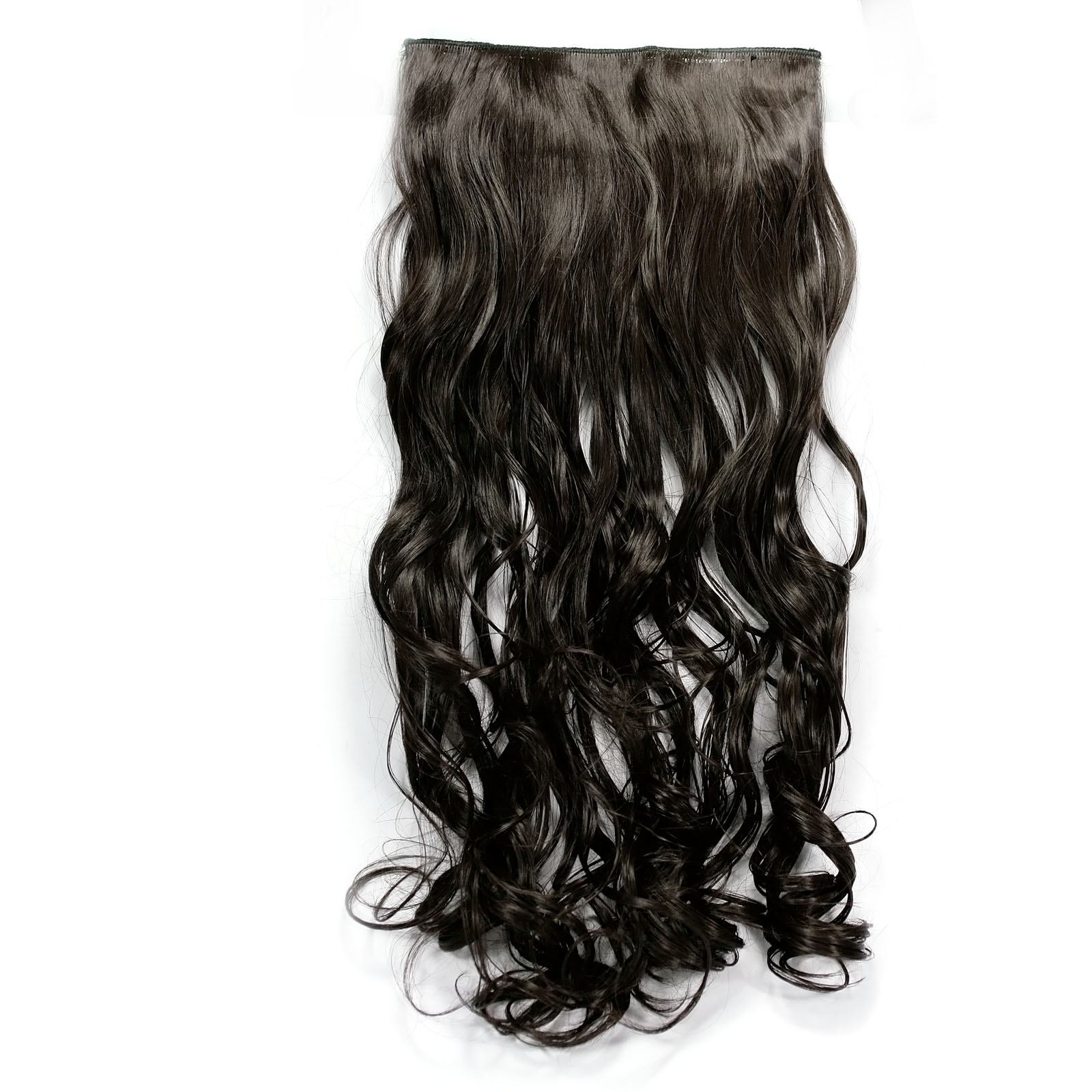 Black Color 5 Clips 20 Long Synthetic Hair Extension Curly Hair