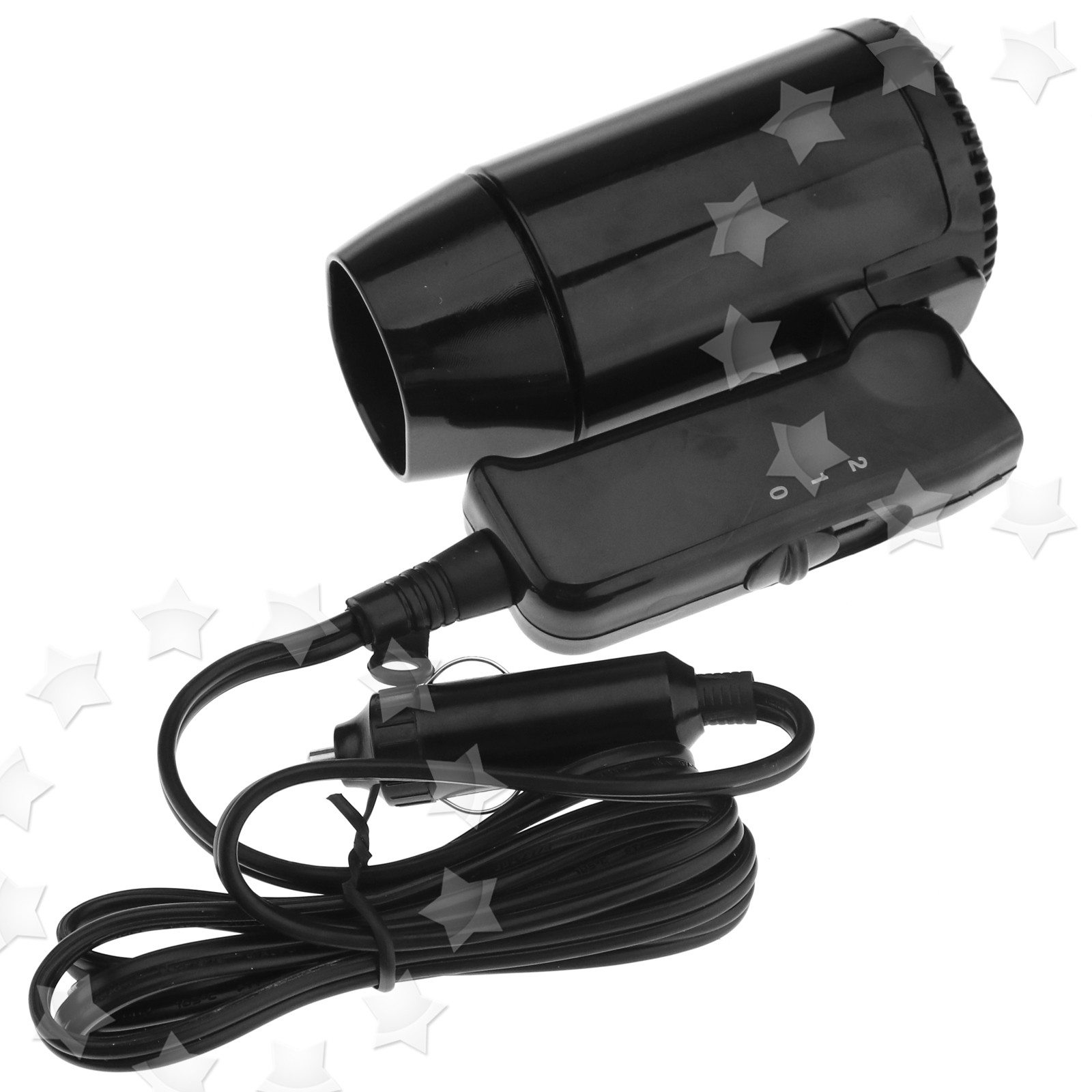 12V 220W Black Compact Travelling Festival & Camping