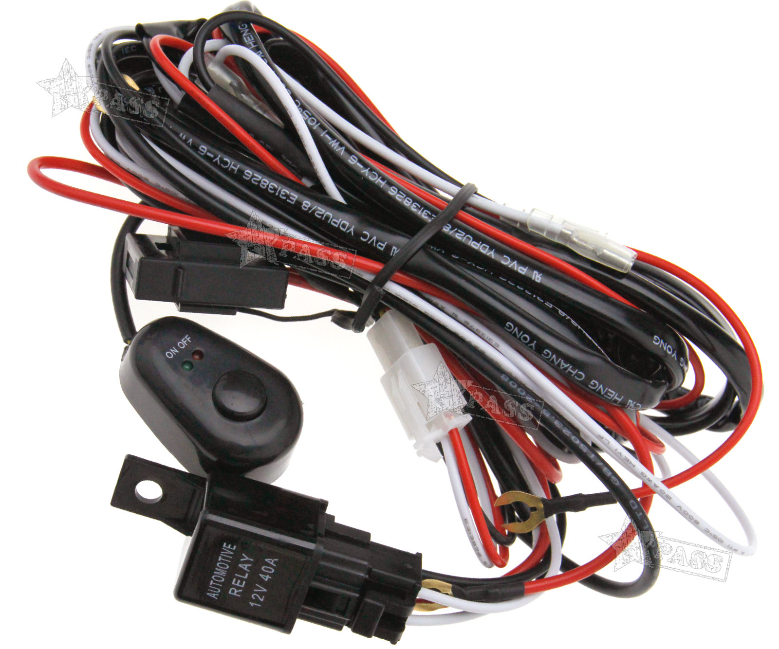 Hid Driving Light Bar Wiring Harness Kit 40a Switch Relay 12v