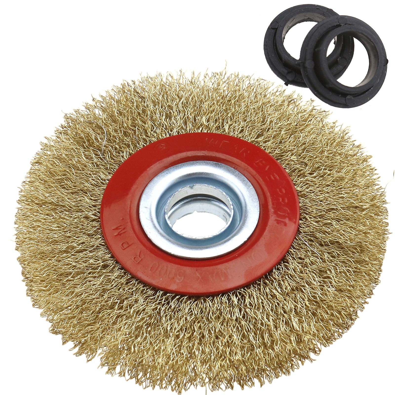 5 6 8 Round Steel Plated Steel Wire Brush Wheel