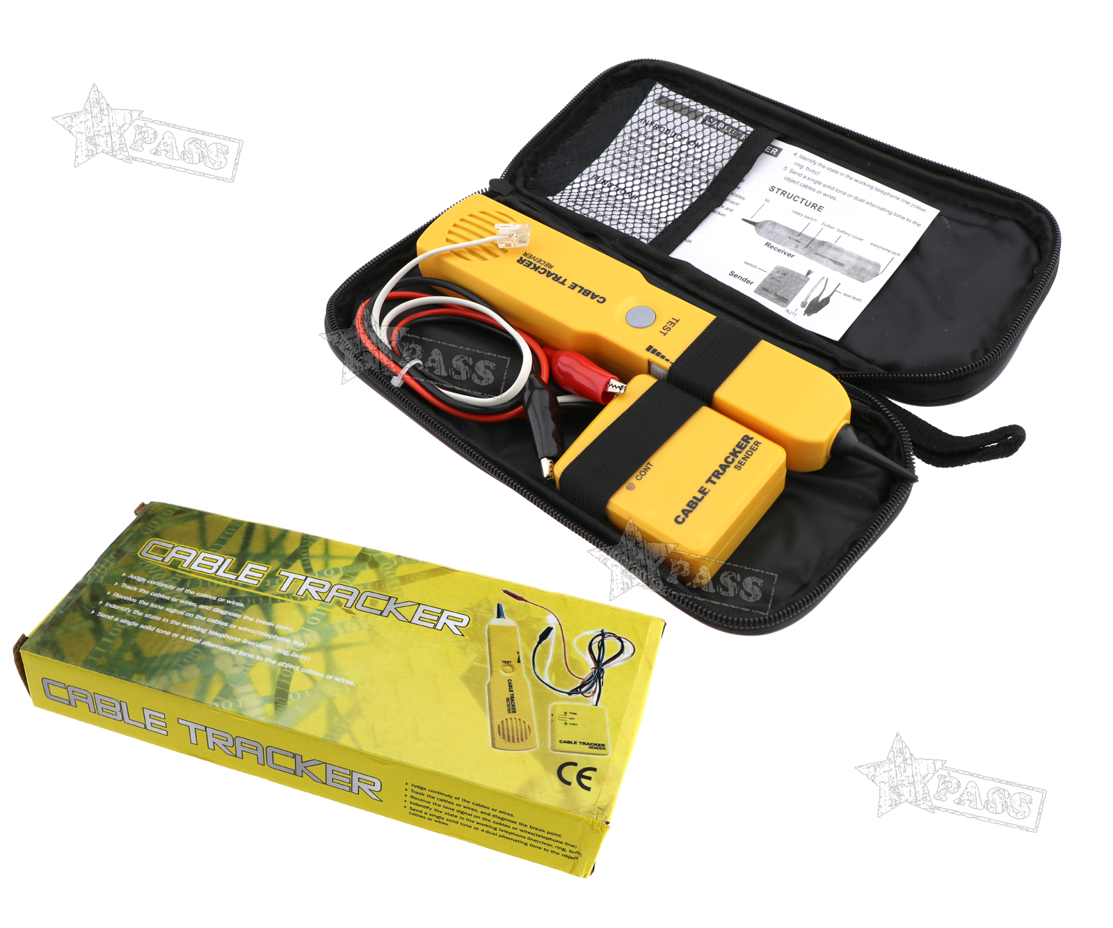 Telephone Network Tone Wire Cabletester Tracker Automotive Short Circuit Open Detector Tracersender Rj11 Cable Tester Lan