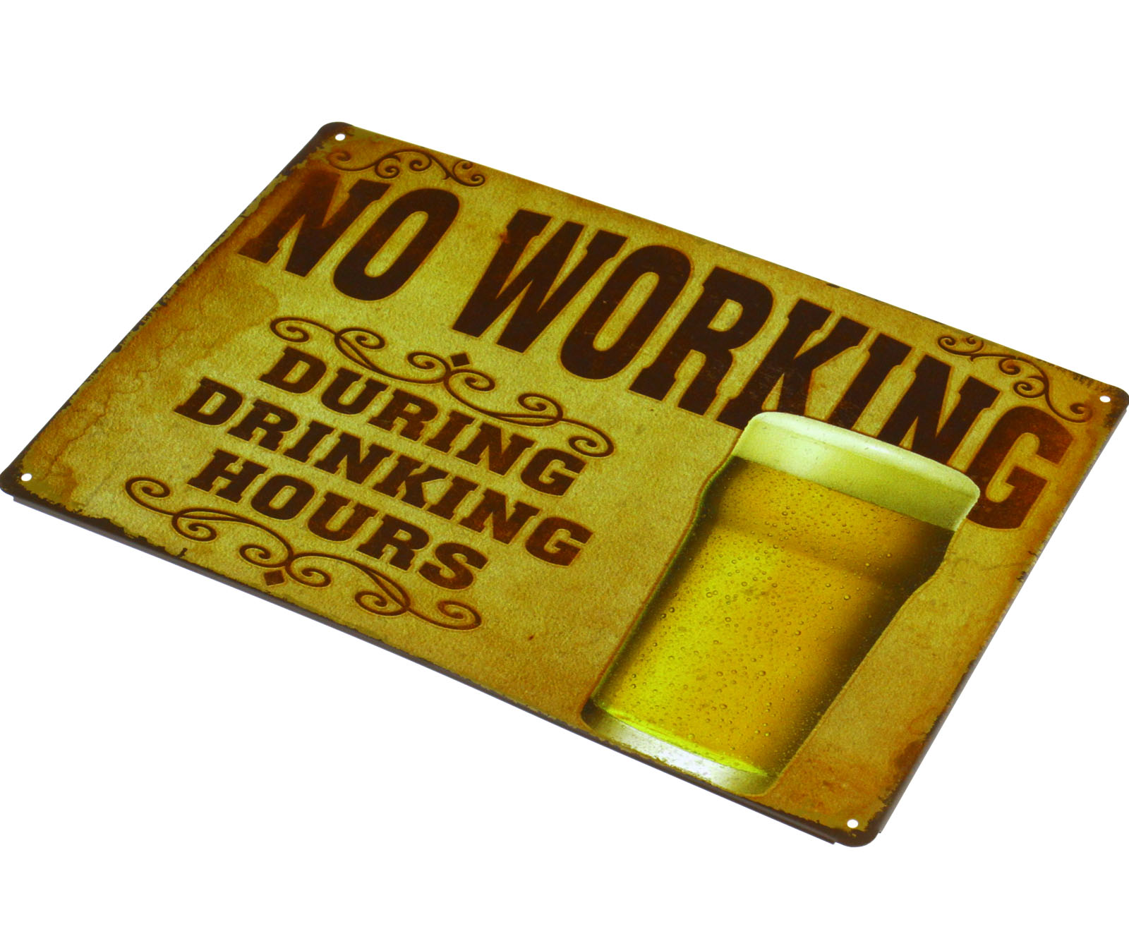no working tin sign home room cafe pub garage bar wall decor metal poster plaque ebay. Black Bedroom Furniture Sets. Home Design Ideas