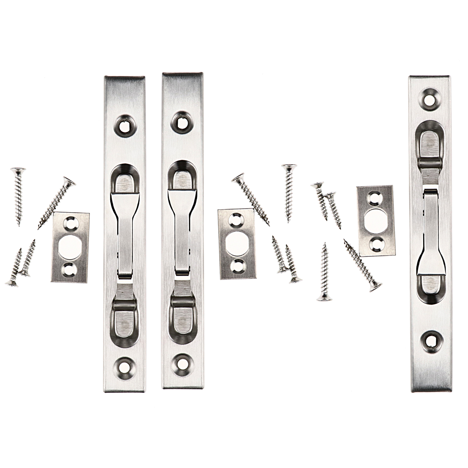 Details about Stainless Steel Safety Door Guard Lever Action Flush Latch Slide Bolt Lock