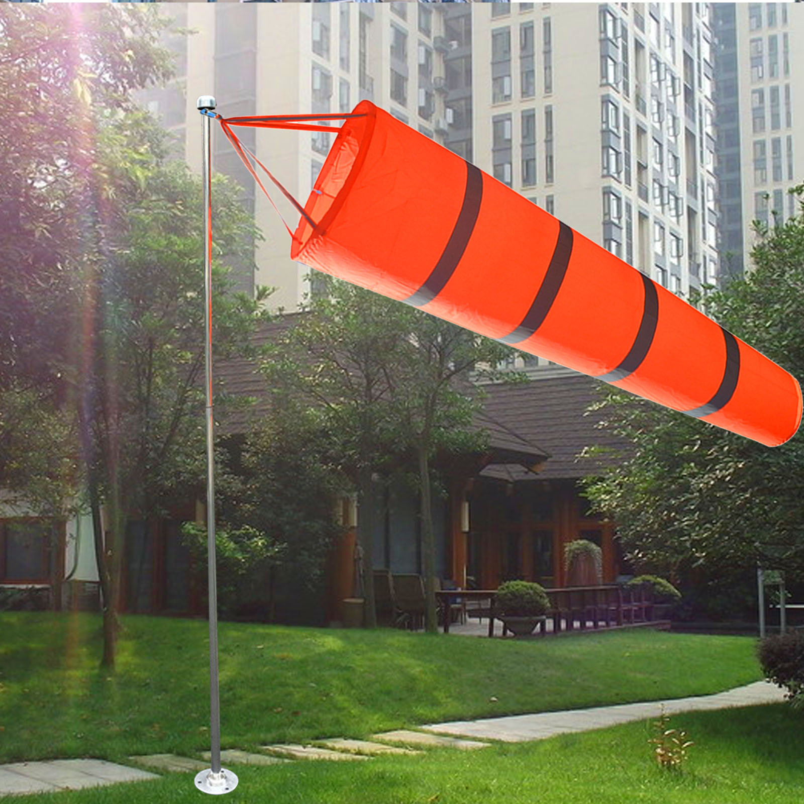 Airport Aviation Windsock Wind Sock Bag Festival Camping Flag 80cm//30/'/' Outdoor