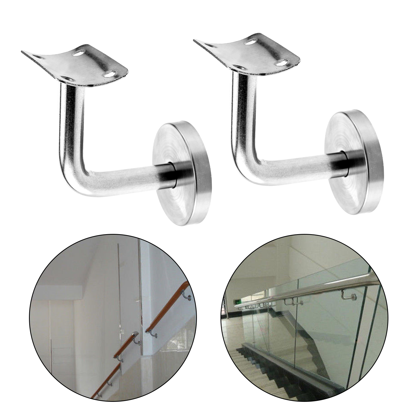 Superieur Details About Stair Handrail Guard Rail Mount Banister Support Wall Bracket  Stainless Steel