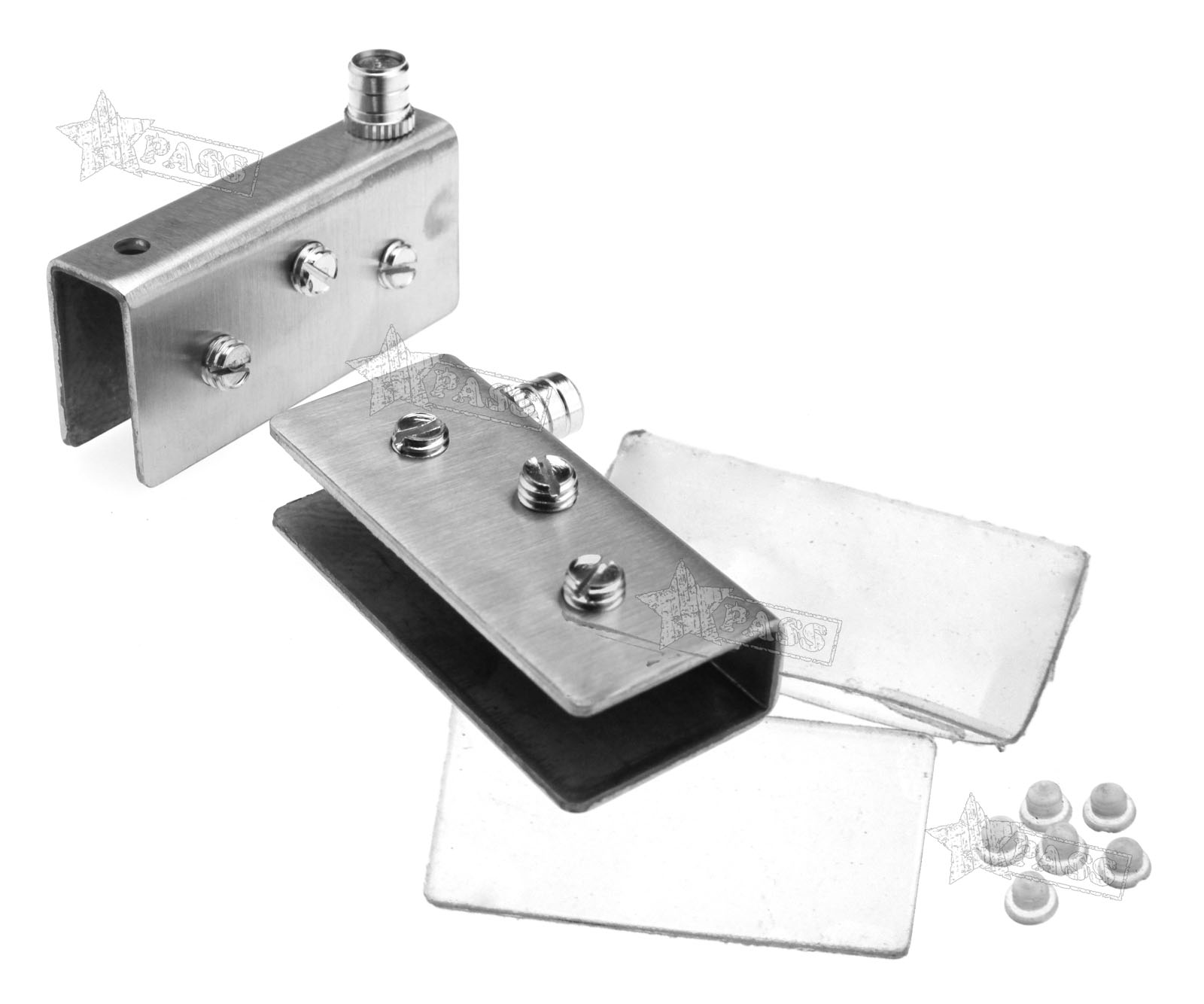 New 2 X 304 Stainless Steel Glass Door Pivot Hinge Set For 12mm