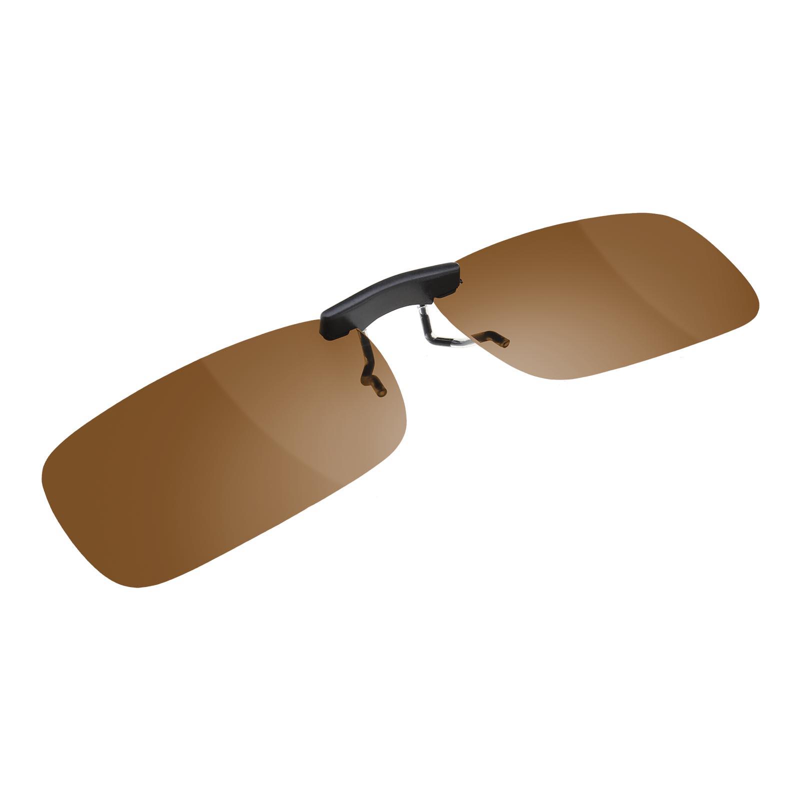 UV400 Sonnenbrillenvorhänger Clip Sonnenbrille dunkel braun Klappbar