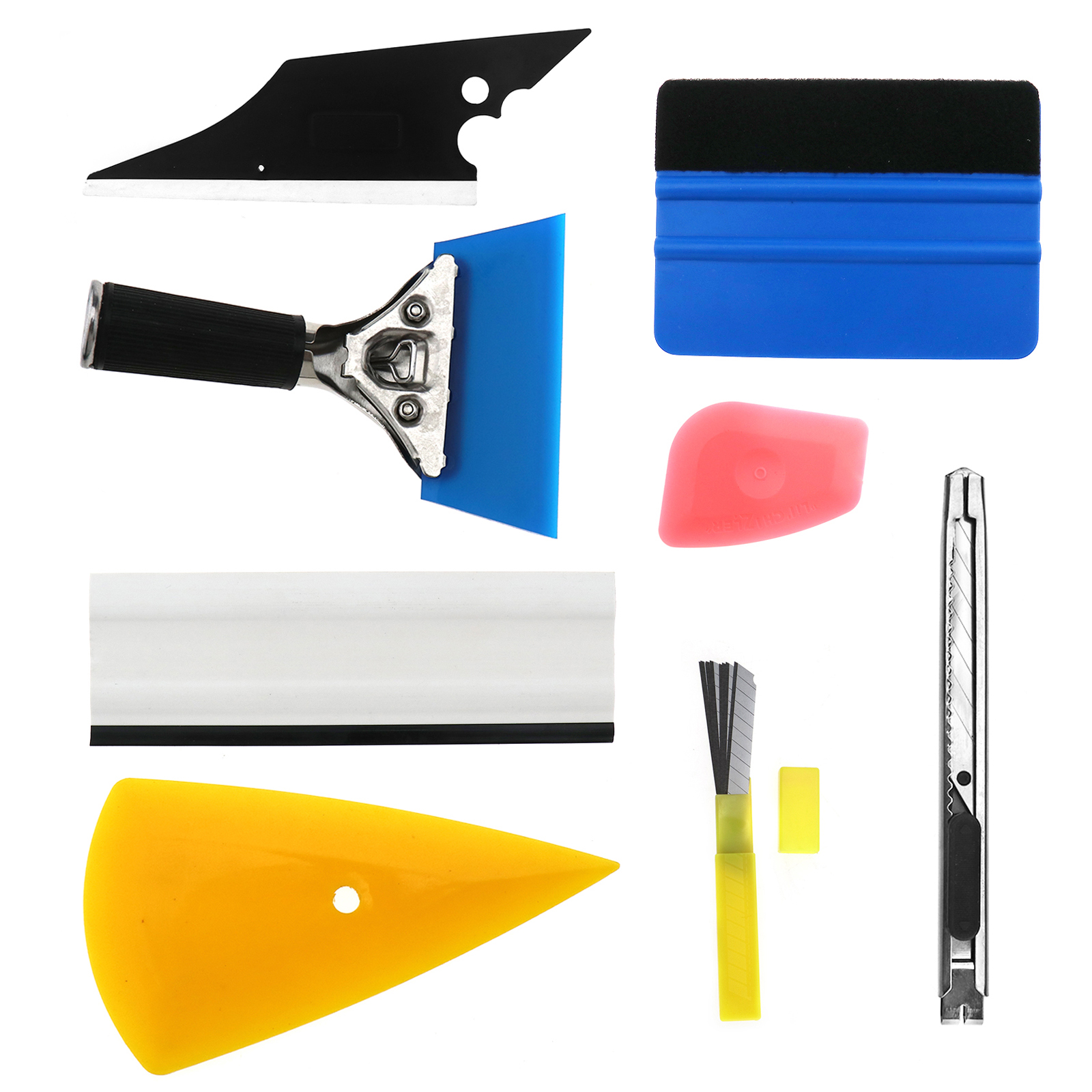 7 in 1 Car Window Tint Tools Kit for Vinyl Film Tinting Squeegee Installation