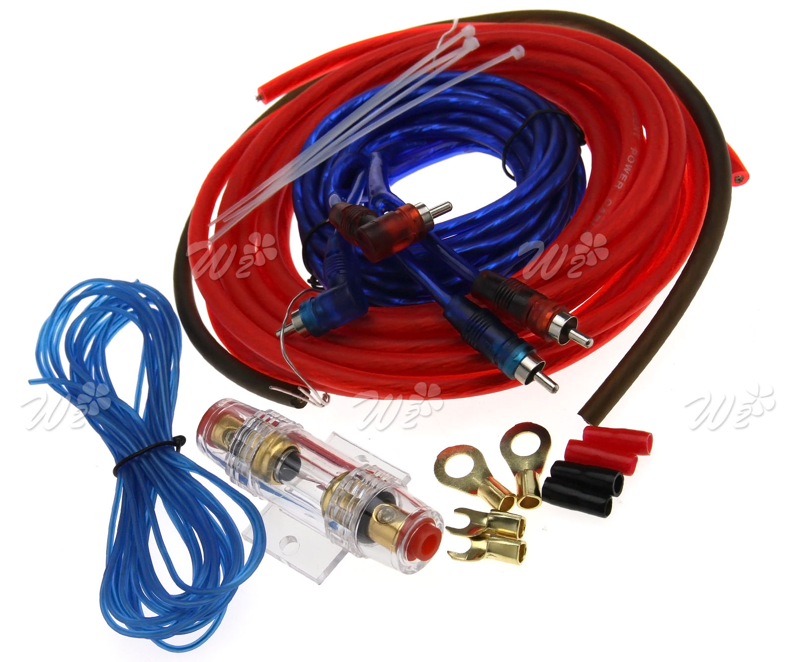 800 Watt Car Kit Amplifier Amp Wiring Fuse Audio Sound Sub Woofer For Subwoofers And An