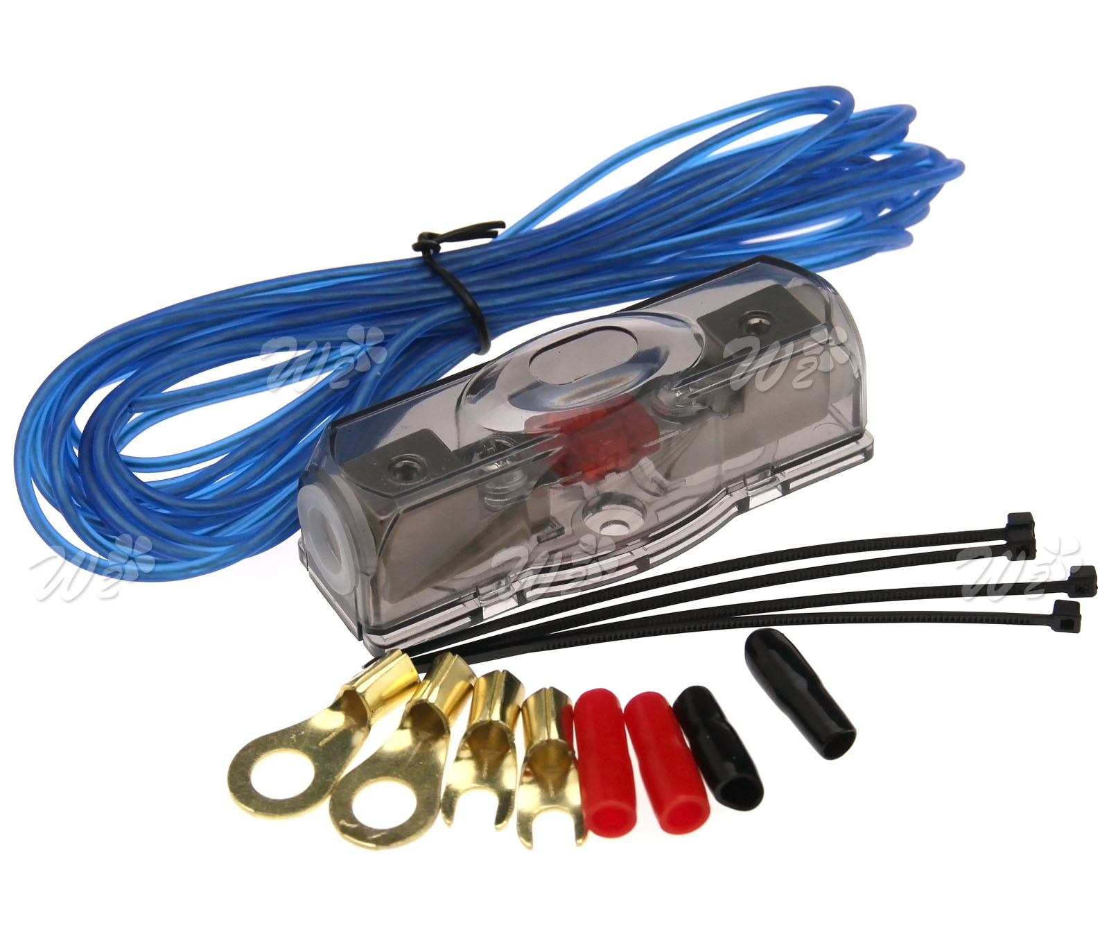 Car-Hifi Auto Kabel Verstärker KFZ Audio Kabel 2000W 100A Kabelset ...