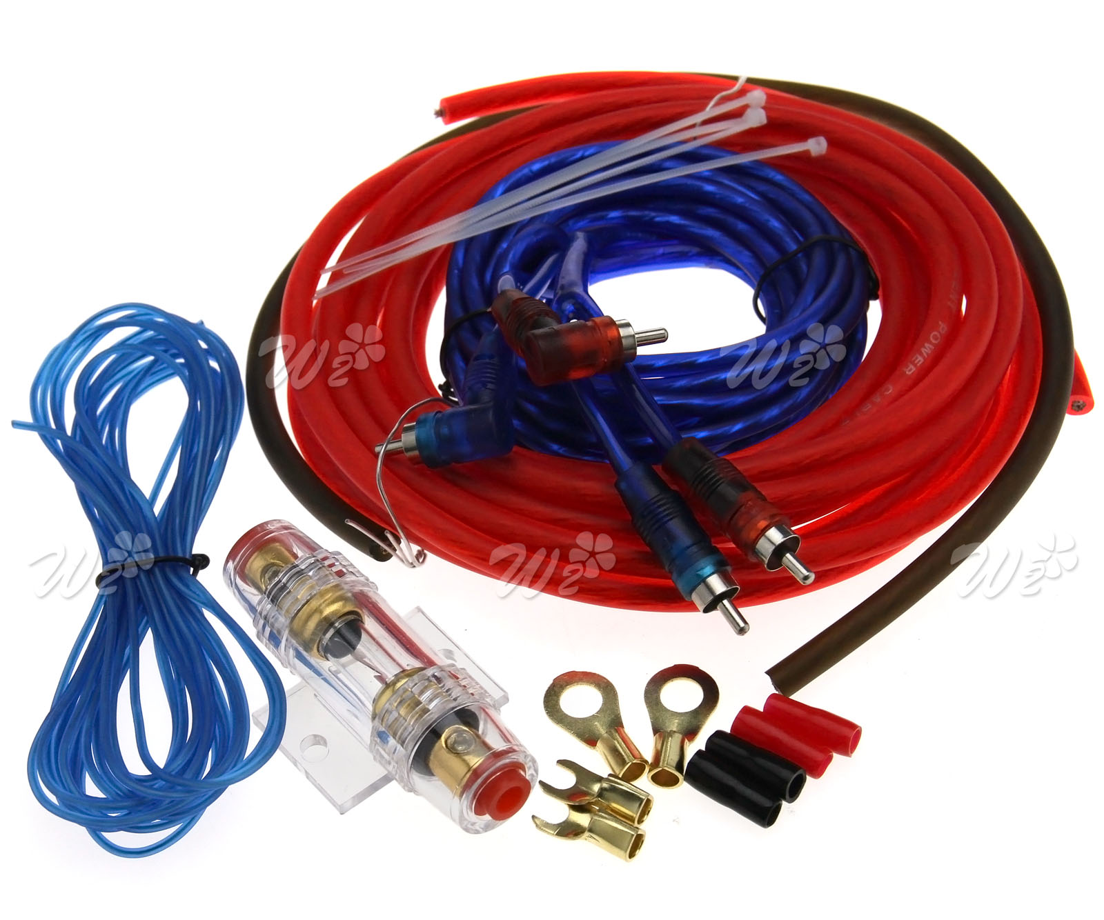 10 Gauge Amp Wiring Kit Solutions 1500w Car Audio Rca Power Cable Subwoofer Amplifier Kits Awg Terminals 400w 40