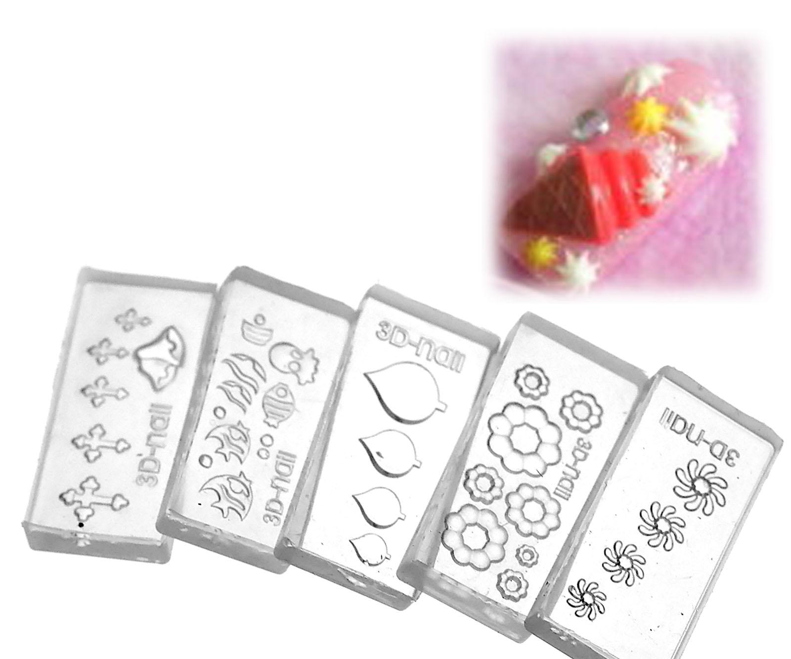 Clear 3d acrylic mold for nail art diy decoration design for 3d acrylic nail art mold diy decoration
