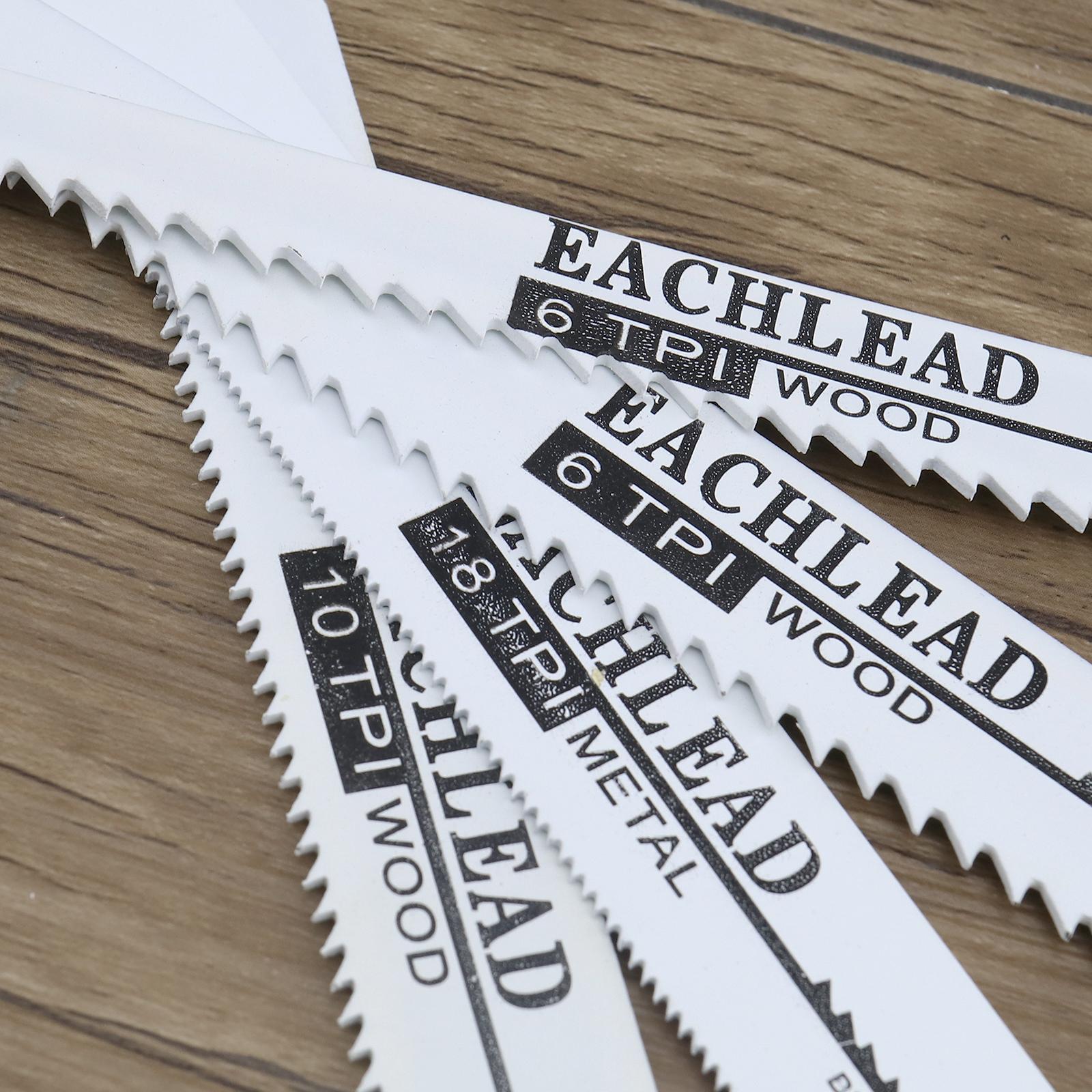 10 Pcs Reciprocating Saw Blades Set Wood Metal Timber Demolition Cutting Set