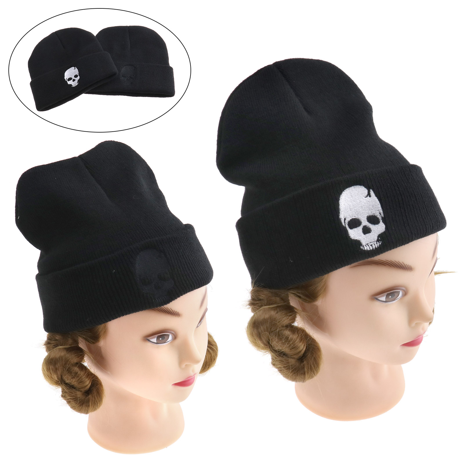 1cf193db7db Skull Knitted Hip Hop Beanie Hat Winter Warm Ski Cap Women Men Unisex Cool  Gift
