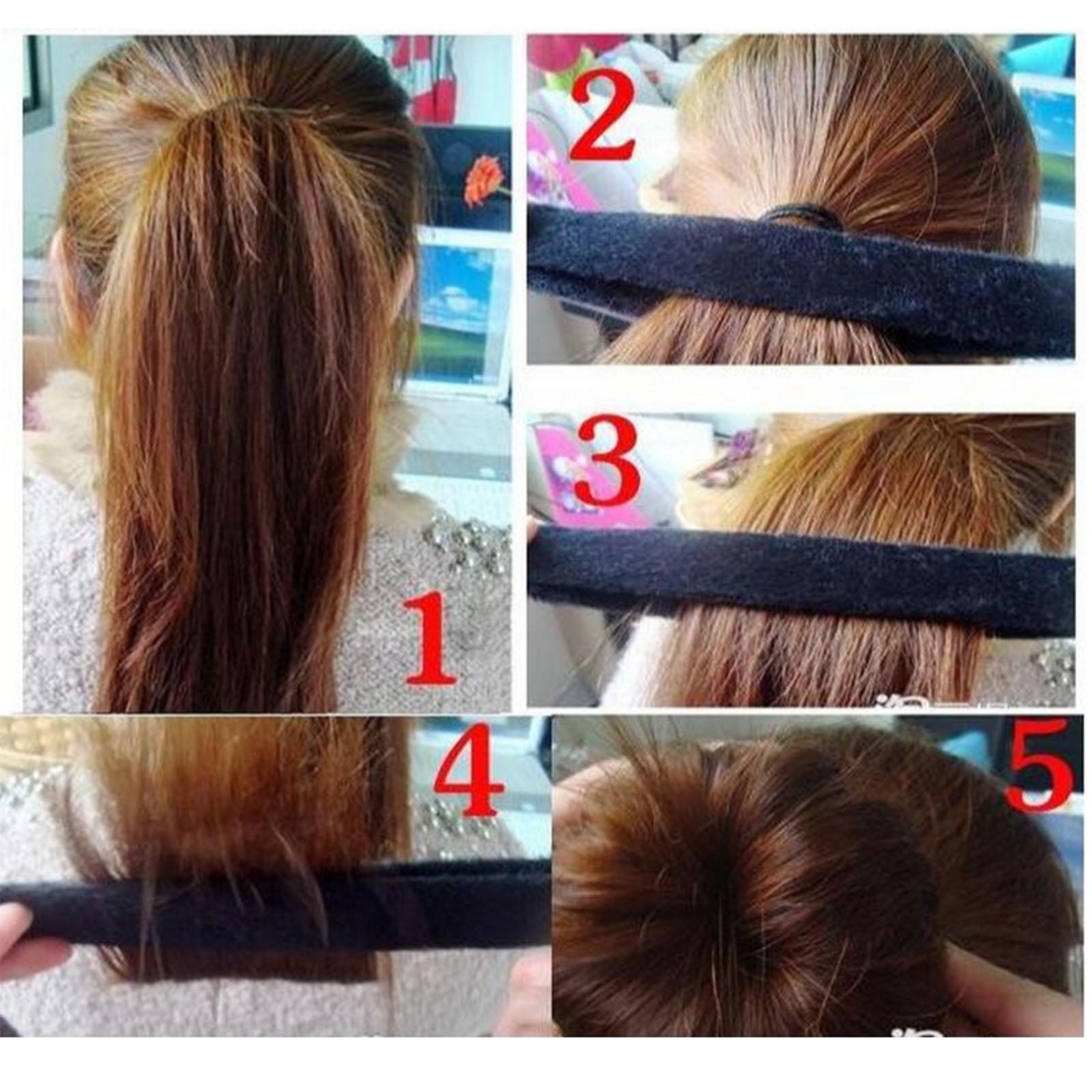 Details Zu 6tlg Haar Twister Bun Hair Maker Dutt Haardutt Donut Haarknoten Diy Frisur