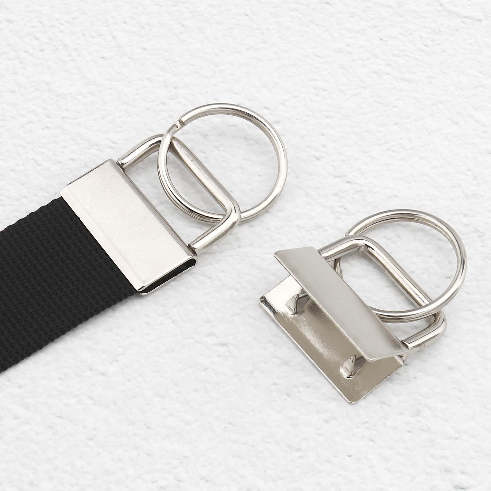 10Pcs//Set Key Fob Hardware keychain Split Ring Wrist Wristlets Cotton Tail Clip