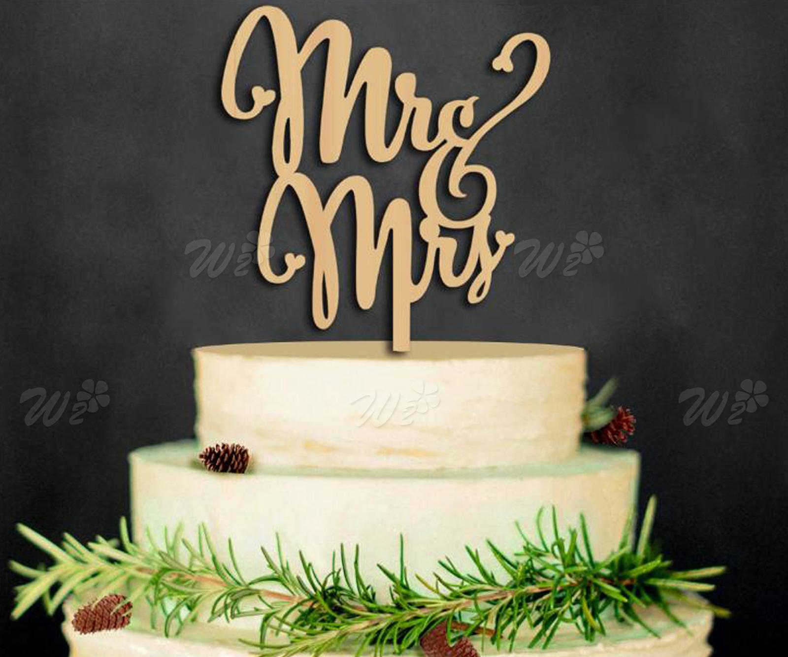 Mr & Mrs Monogram Wedding Cake Toppers Silver Bling Cake Topper Top ...