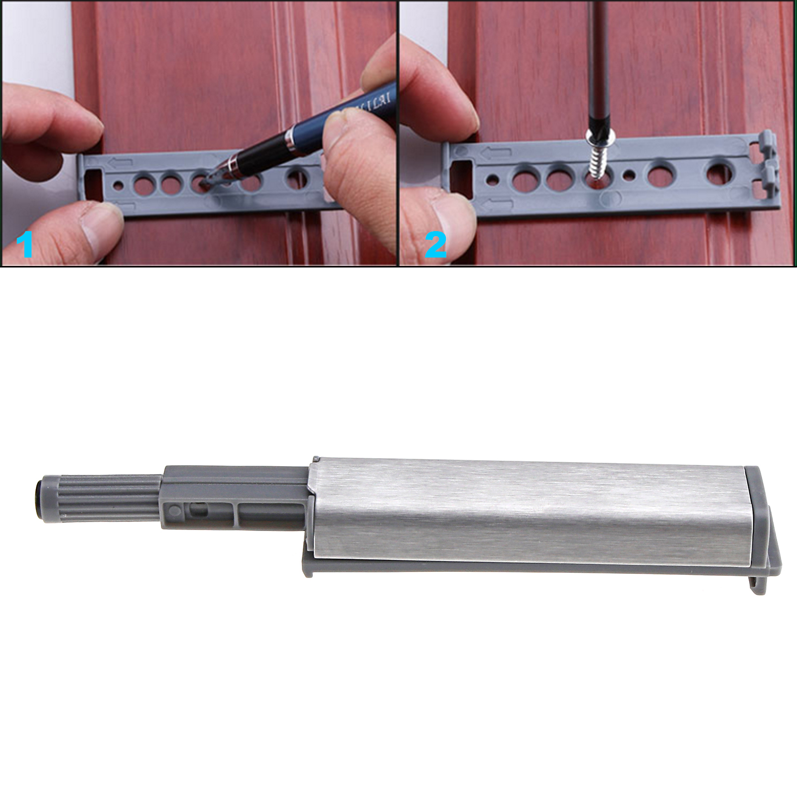 Ed 10x Push To Open Latch Cabinet Door Drawer Soft Close Damper Buffer