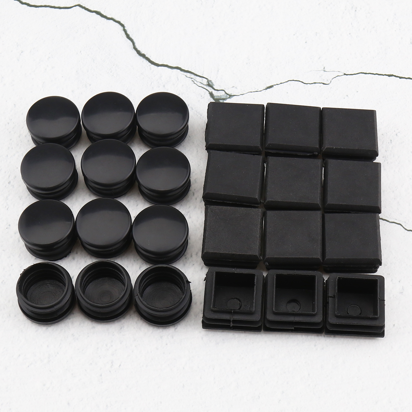 10x PE Plastic Round Chair Leg Caps Covers Rubber Feet Protector Pad Table Cover