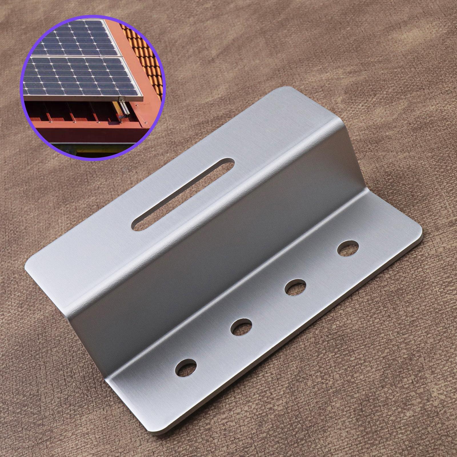Z-Solarpanel Halterungen Z-Winkel für Solarmodule Aluminium 4-Loch 100mm