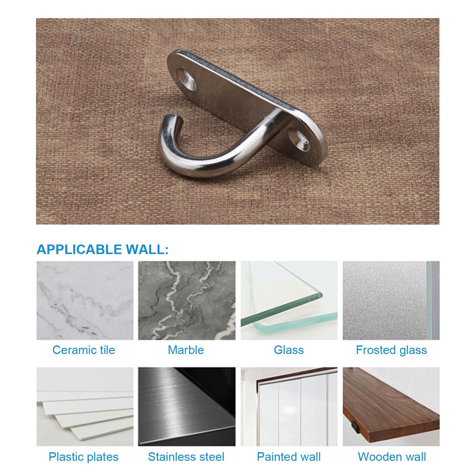 8Stk Wand-Deckenhaken aus 304 Edelstahl zur Wandmontage für Pflanzenkorb Boot