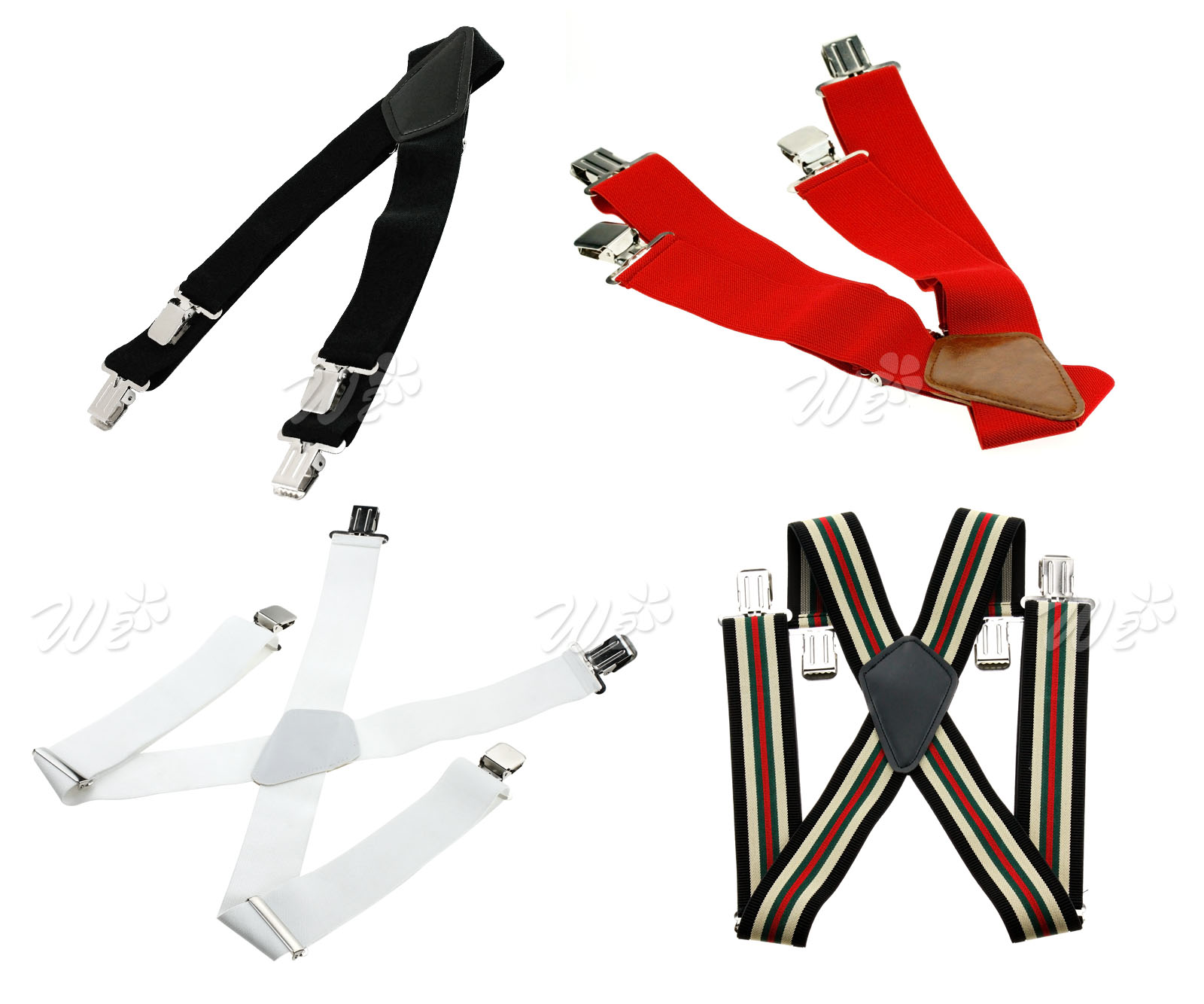 X shape Mens 5cm Wide Braces Plain Heavy Duty Suspender Elastic Adjustable