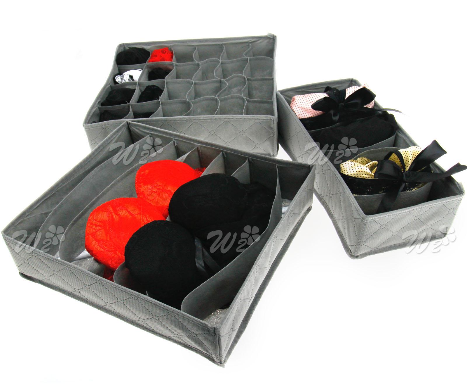 New Non Woven Fabric Folding Underwear Storage Box Bedroom: Underwear Sock Tie Storage Organizer Drawer Bra Pants
