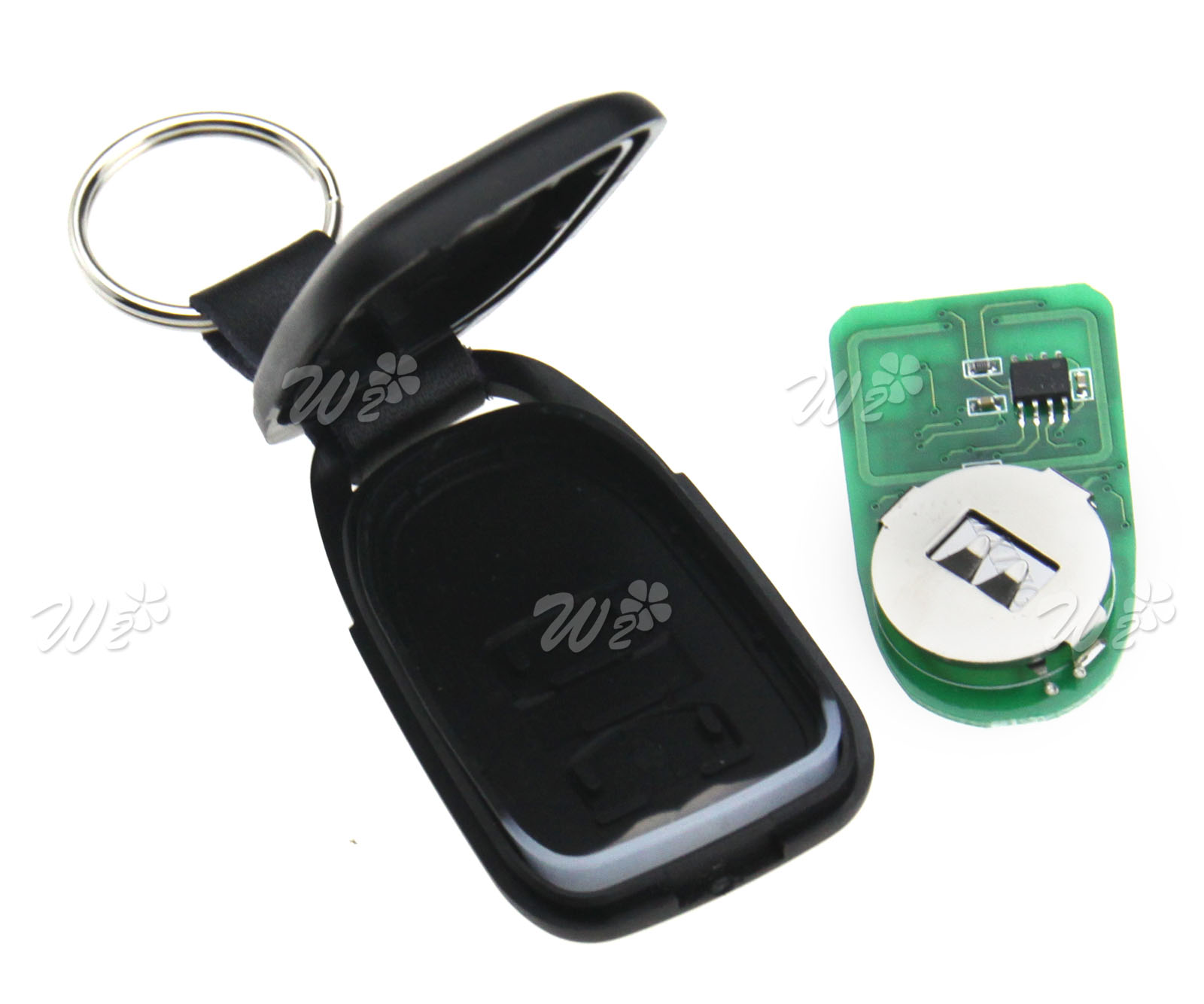 2PCS ABS Rolling Code 868MHz 2 Button Remote Control Fob For FAAC XT2 868SLH LR
