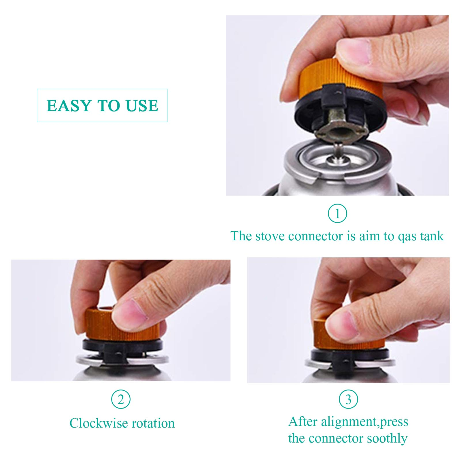 Camping Burner Cartridge Gas Fuel Canister Stove Cans Tank Adapter Converter PN