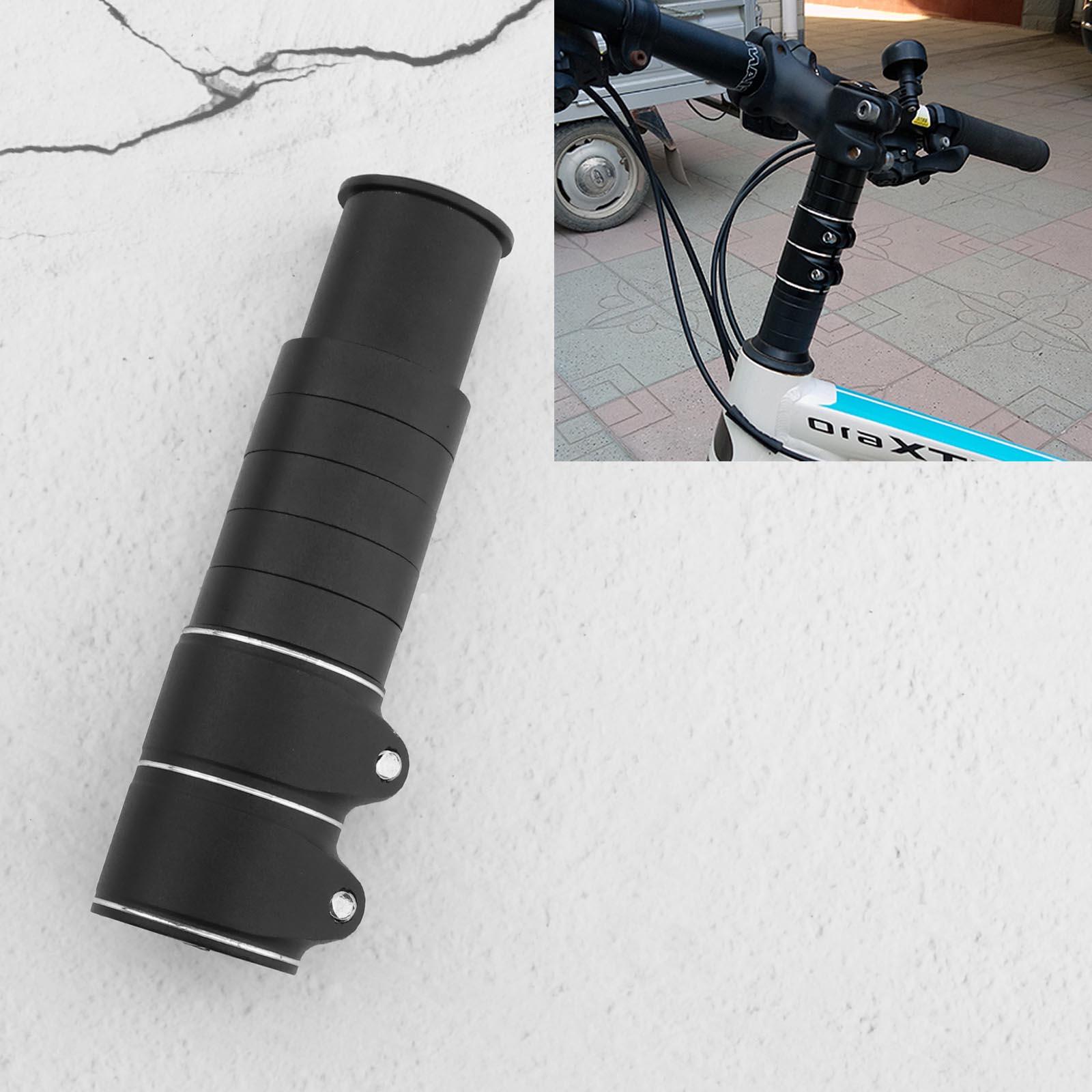 Mountain Bike Handlebar Front Fork Stem Riser Extension Scooter Adapter Black