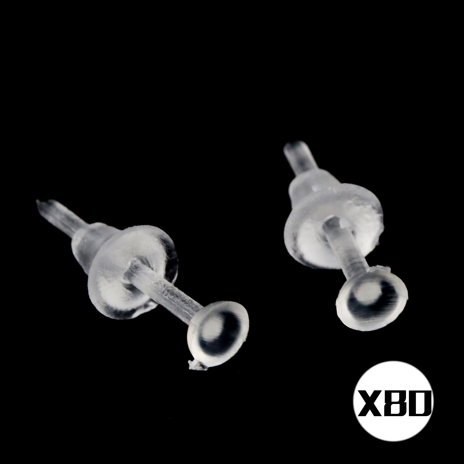 Allergy Free Transpa Plastic Earrings Stud Clear Stem Resin Back 10 20 50